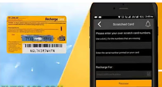 scratched MTN card