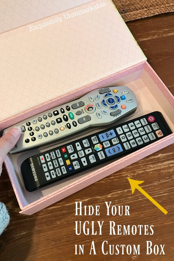 Hide Those Ugly Remotes