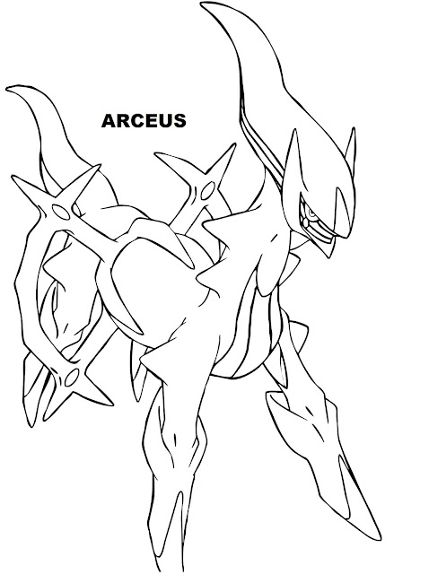 Arceus The Pokemon God Legendary Coloring Pages