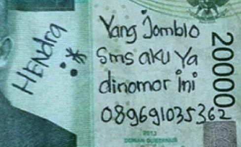 Awas! Sekarang Corat-coret Uang Rupiah, Akan Dipenjara 5 Tahun dan Denda Rp 1 Miliar