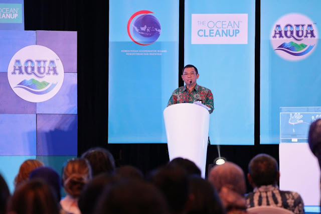 "Diskusi panel ""Innovation on Waste Management: River Plastic Interception"" di Jakarta, Kamis (31/10). Foto: Kemenko Kemaritiman dan Investasi"