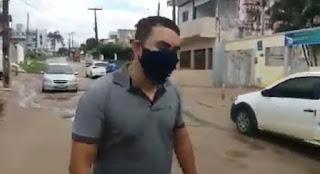 Internauta vai as  redes sociais reclamar de buracos na saída de Guarabira para Pilõezinhos