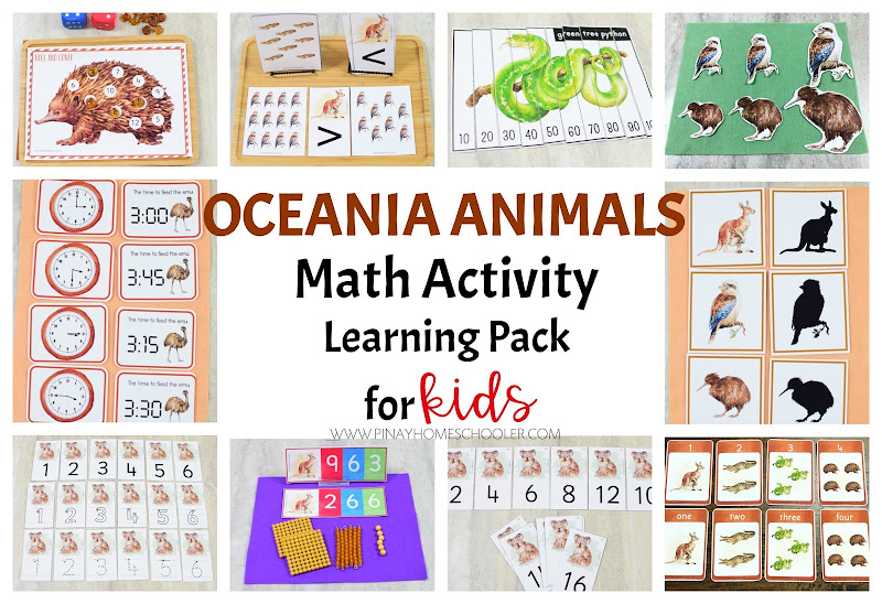 Oceania Australia Animals Math Learning Material