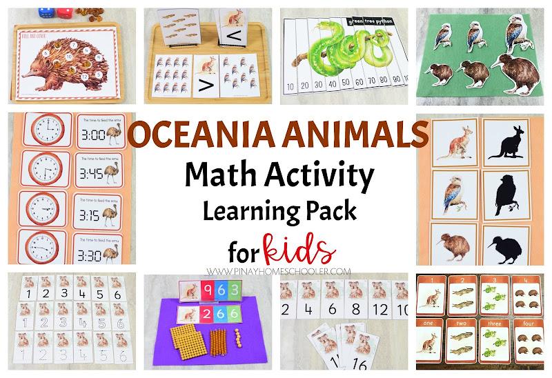 Oceania Australia Animals Math Learning Material