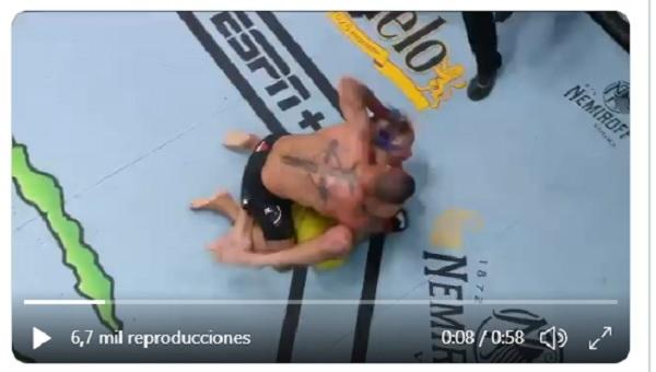 Peleador somete a  oponente con una brutal llave y se alza con la victoria (videos)