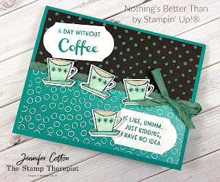 Nothing's Better Than Bundle by Stampin' Up! plus Flower & Field and Oh So Ombre Sale a Bration designer paper.  #StampTherapist #Stampinup