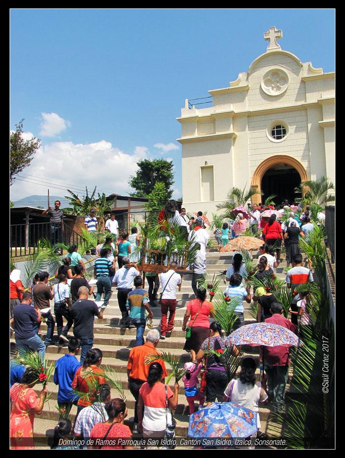 Procesion de las Palmas, Paroquia San Isidro