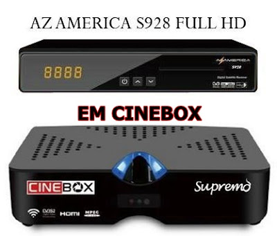 Resultado de imagem para azamerica s928 transformado em cinebox