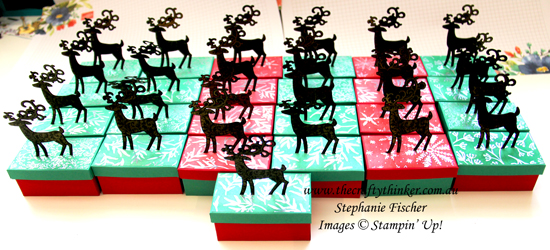 #thecraftythinker #stampinup #3dxmasbox #christmastablefavor #dashingdeer , Dashing Deer, Detailed Deer, Christmas Table Favor, Xmas Table Favour, Stampin' Up Demonstrator, Stephanie Fischer, Sydney NSW, 3D project