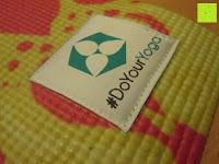 """Logo: Yogamatte """"Ravana"""" Die ideale Yoga- und Gymnastikmatte für Yoga-Einsteiger. Maße: 183 x 61 x 0,4cm / Paisley gelb"""