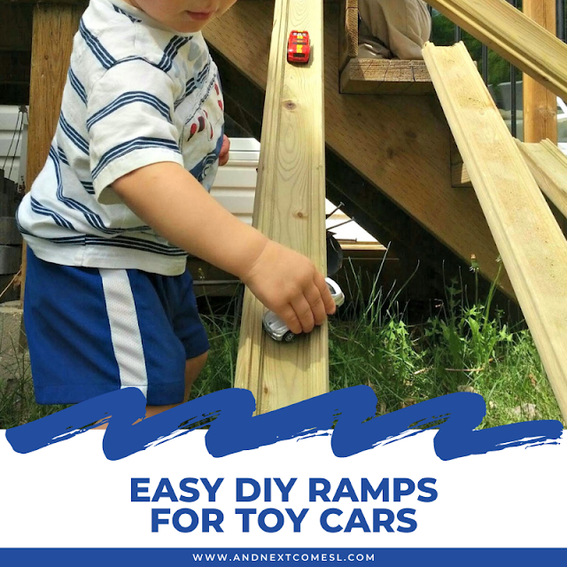 DIY wooden ramps for toy cars