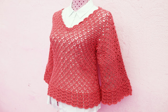 5 - Imagen Crochet Blusa de mujer a crochet y ganchillo parte 2 por Majovel Crochet