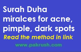 Best Quran Surah verses for acne, pimples and dark spots