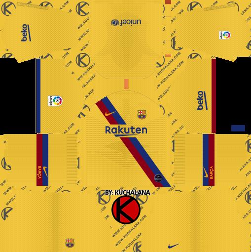 online store f8387 552c3 F.C. Barcelona 2019/2020 Nike Kit - Dream League Soccer Kits ...