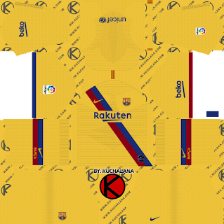F.C. Barcelona 2019/2020 Nike Kit - Dream League Soccer Kits