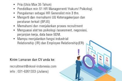 Info Lowongan Kerja HR V-Kool Indonesia