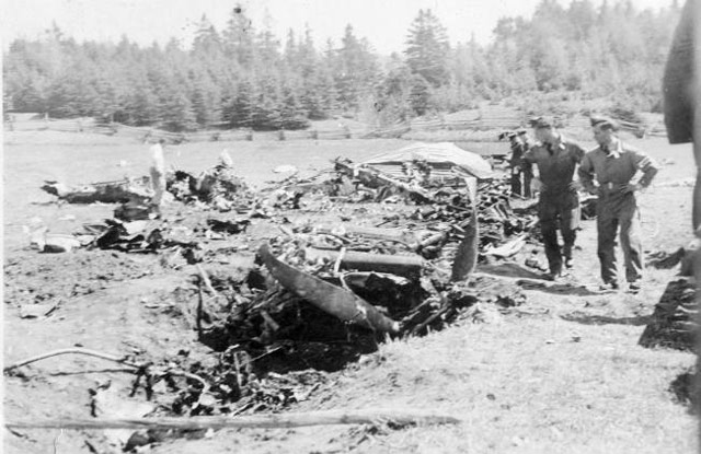 Crash site in Quebec, 19 May 1942 worldwartwo.filminspector.com