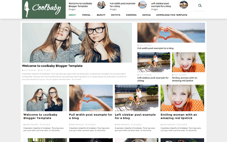 Cool Baby Free Blogger Template