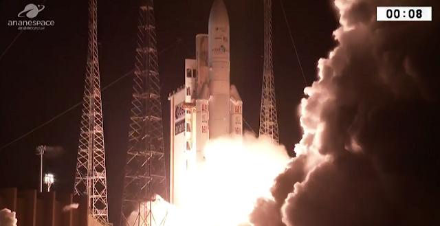Ariane 5 liftoff on September 29, 2017. Credit: ESA/Arianespace