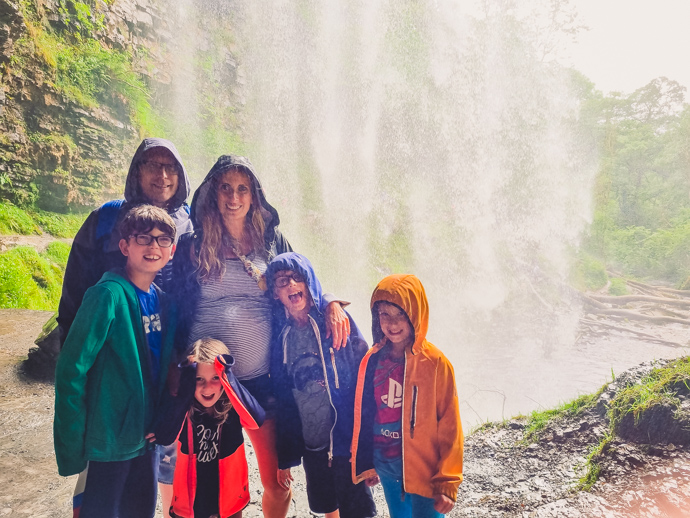 South Wales with Kids, exploring Wales, Henrhyd falls