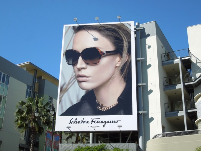 Salvatore Ferragamo 2013 eyewear billboard