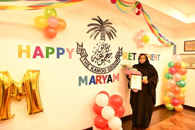 Maryam Al Haddad retirement tribute at The Kanoo Group
