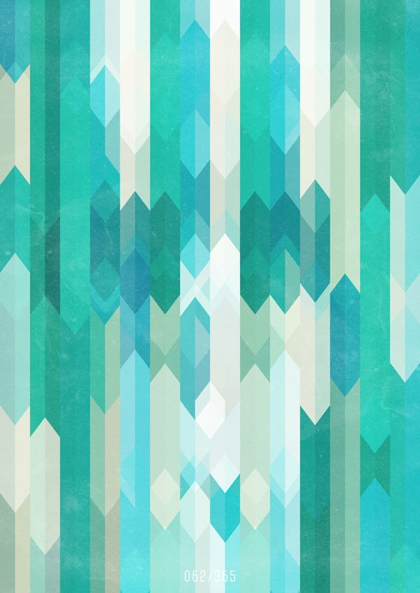 Art Patterns Inspiration: Teal Lines