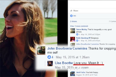 John Bourbonia Cummins's rumored girlfriend picture form Facebook