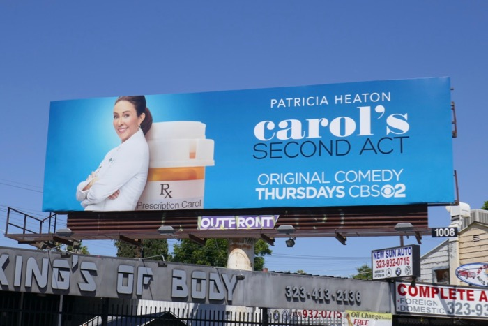 Carols Second Act series launch billboard