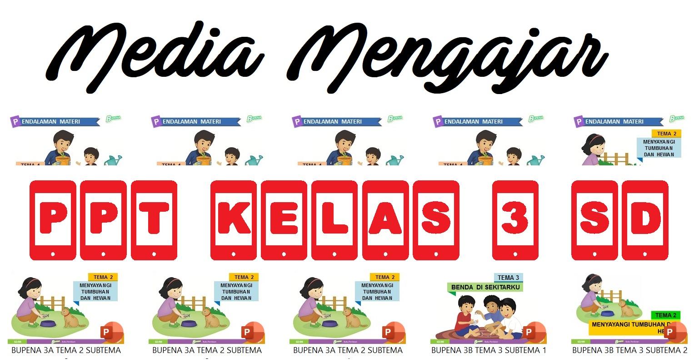 Download Media Pembelajaran PowerPoint Kurikulum 2013 Sekolah Dasar (SD) atau Madrasah Ibtidaiyah (MI) Kelas III (Tiga) Semua Tema