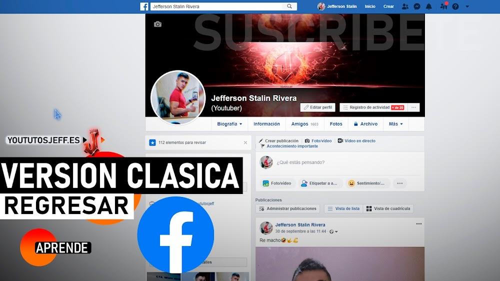 Volver a la Versión Clásica de Facebook
