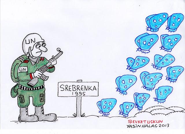 srebrenka 1995 karikatür