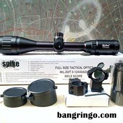 Kelengkapan Teleskop Senapan Spike 3-12x40 AOL