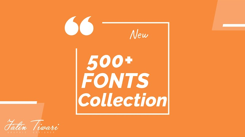 500+ Font collection 2020