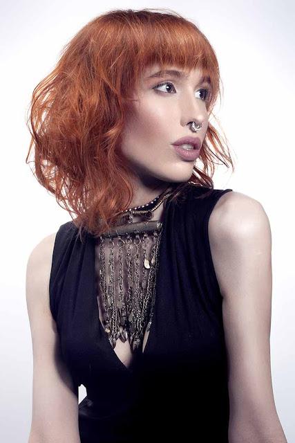 coloracion cabello rojizo cobrizo