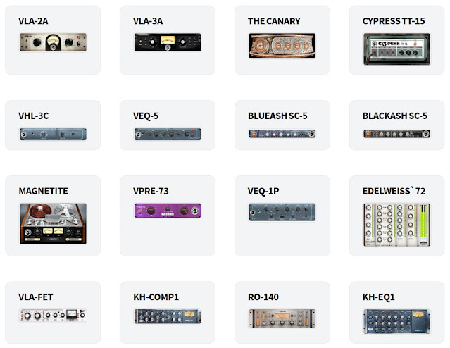 Plugins inclusos no pacote Black Rooster Audio - The ALL Bundle 2.5.5