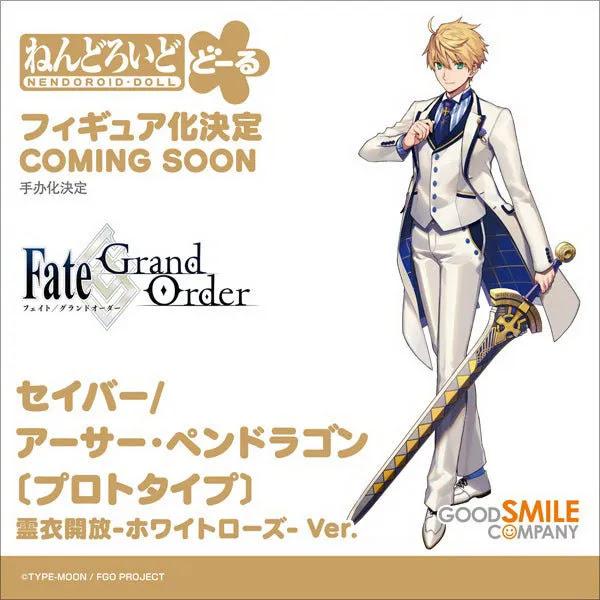 Fate/Grand Order Nendoroid Doll Saber/Arthur Pendragon (Prototype): Costume Dress -White Rose- Ver.