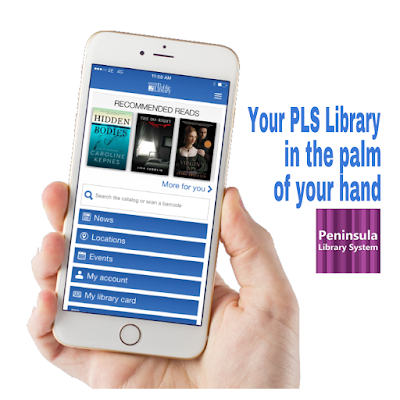 hand holding mobile phone with Library app displayed