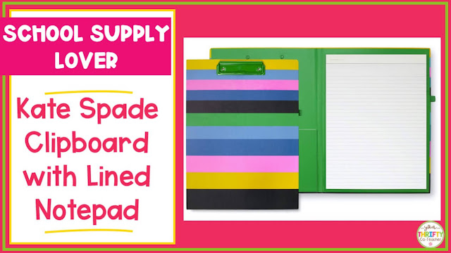 A Kate Spade clipboard makes a great teacher gift for Christmas or any holiday.