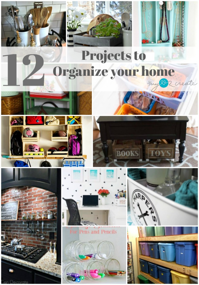 So many great ideas to organize my home, I have to do these!!!