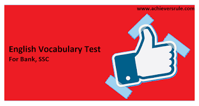 Test of English Word Power for IBPS PO - Set 8