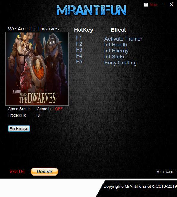 We are the Dwarves (PC) Sınırsız Can,Enerji +4 Trainer Hilesi İndir