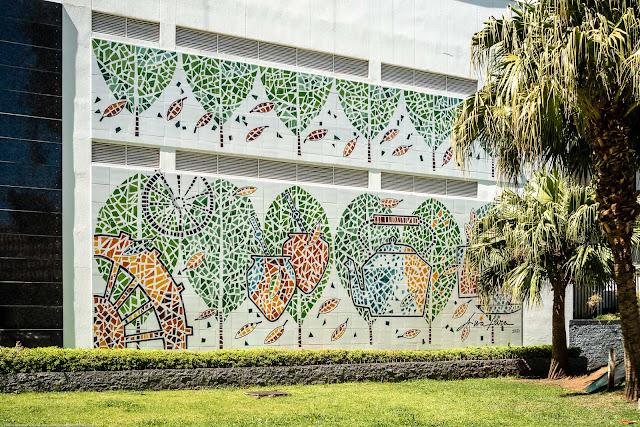 Um painel no Edifício Solar da Nogueira - Torre Didi Caillet