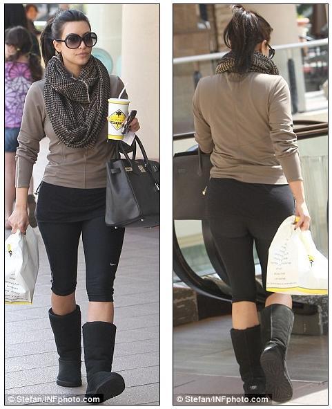 Fitness Junkies Leggings: Rheass: Multi-tasking Kim Kardashian Promotes Her Skechers