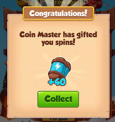 Coin Master Reward 50 SPINS Today