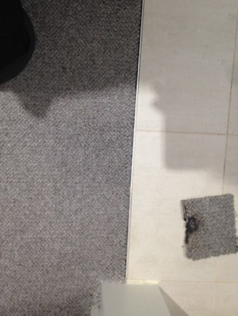 carpet repairs - Before and after