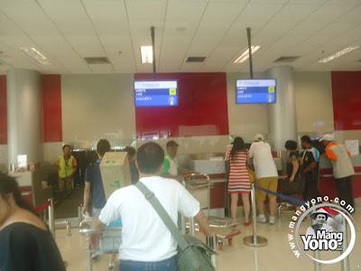 Chek In di Sriwijaya Air bandara Depati Amir, Pangkal Pinang (PGK) Pulau Bangka.
