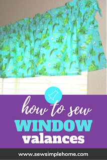 Learn how to sew curtains step by step with this valance tutorial and the Easy Curtains 101 eBook.