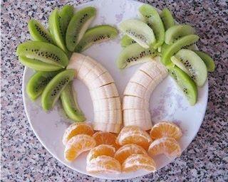 Decoração de mesa com frutas