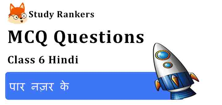 MCQ Questions for Class 6 Hindi Chapter 6 पार नज़र के Vasant